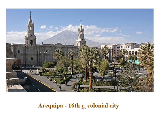 Arequipa - 16th c. colonial city