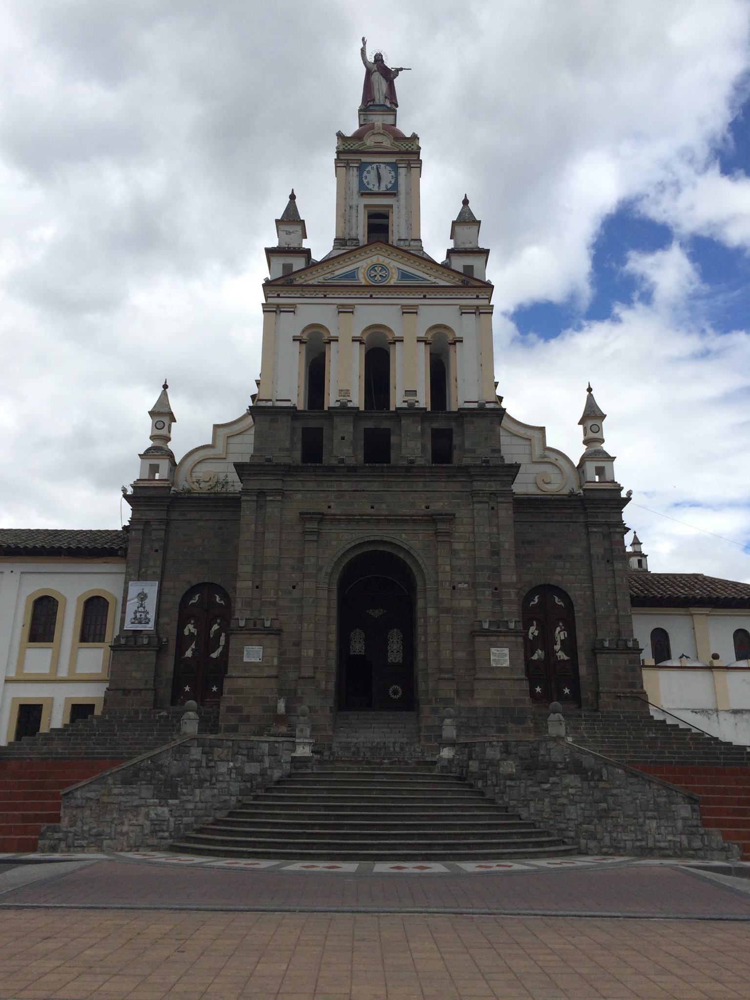 Cotacachi church front