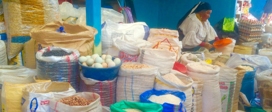 Corns and Beans in the Market