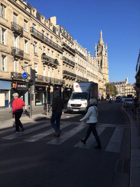 Street scene in Bordeaux, France